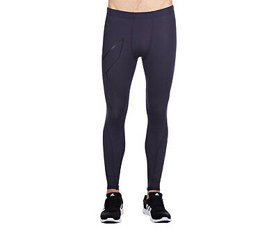 Men's 2XU Hyoptik Compression tights - Steel/Black Reflective