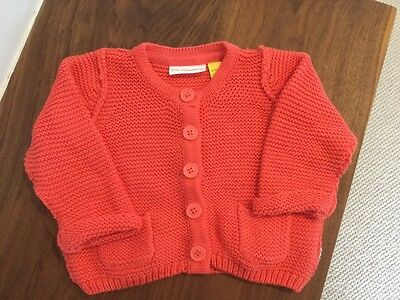 the kidstore coral knit cotton cardigan jacket size 3-6 mth 00