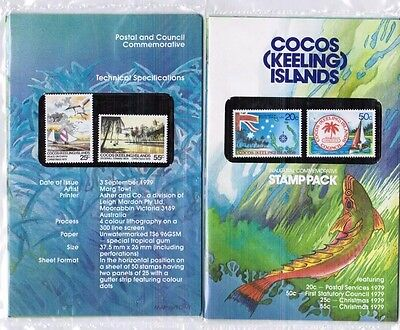 1979 COCOS ISLANDS Inaugural Commemorative Stamp Pack  Including  Christmas. MUH