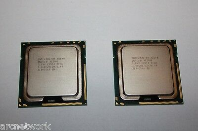 Matched pair Intel Xeon X5690 3.46GHz 12MB 6-Cores 6.40GT/s LGA1366 SLBVX CPUs