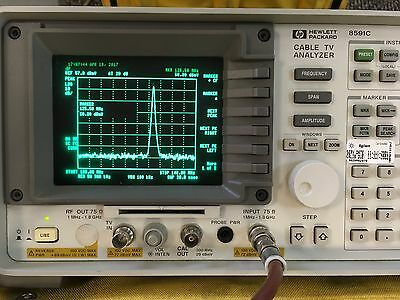 Agilent Hp Keysight 8591C 1 Mhz - 1.8 Ghz Cable Tv Analyzer 107 Receiver Video