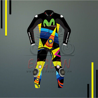 Valentino Rossi Sun & Moon Motogp 2017 Leather Suit