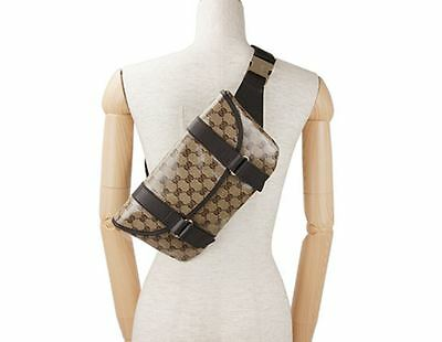 NWT Authentic Unisex Gucci GG 374617 Crystal Pocket Bag/ Fanny Pack/ Waist Bag