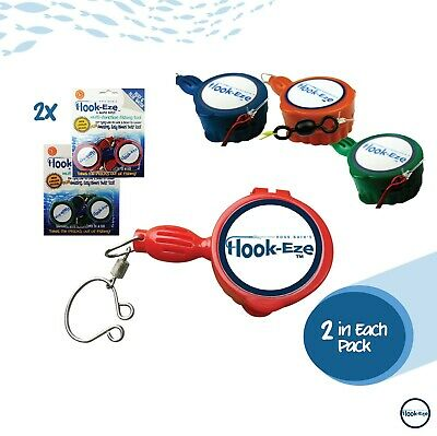 Hook Eze Reef & Blue Water Double Deal HookEze in Blue, Green, Red