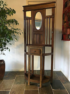 Hallstand wooden mirror reproduction