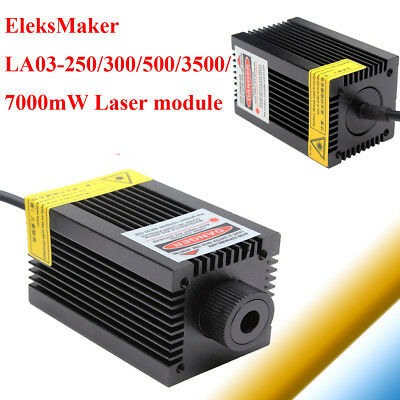 LA03-250/300/500/3500/7000mW Focusable Red Dot Laser Module For DIY Engraver