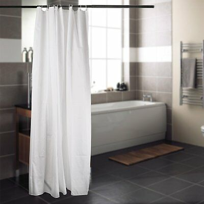 Fabric Extra Long 180*200cm Waterproof Textile Shower Curtain With 12 Hooks