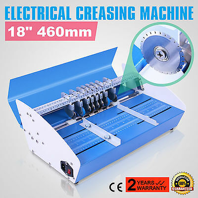 "Electric 3-in-1 Paper Creasing Machine Scorer / Perforator 18"" (460mm) New"