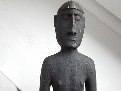 Interesting Oceanic tribal wood male figure-probably Papua New Guinea