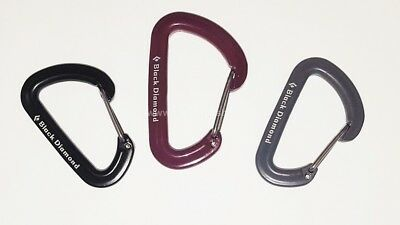 Black Diamond Micron Accessory Carabiner Alloy Wire Gate 3 Colours