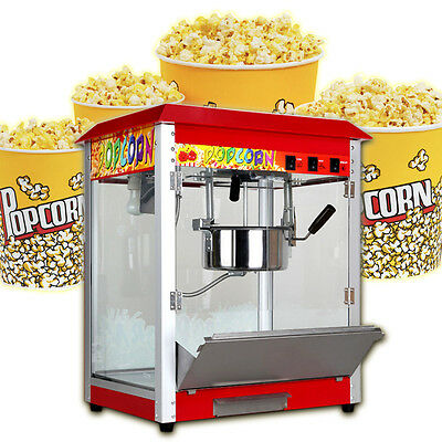 Electric Popcorn Maker Tabletop Machine Pop Corn Cooker 8Oz Party Red W/ EU Plug