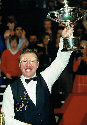 Dennis TAYLOR Signed Autograph 16x12 SNOOKER Photo Sheffield Crucible AFTAL COA