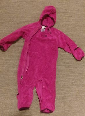 Baby Toddler Girl The North Face Fleece Onesie 6-12 Mths