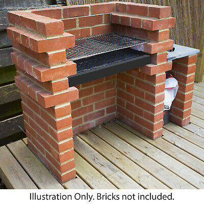 Xl Brick Bbq Diy Kit Charcoal Barbecue Chrome Grill Two Sizes Build Your Own Bbq