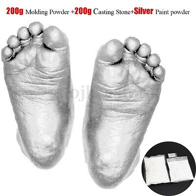 3D DIY Baby Hand Foot Casting Kit Molding and Casting Powder + Paint Powder