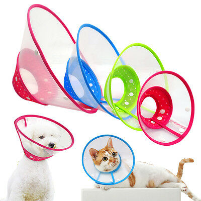 Recovery Pet Dog E-Collar Wound Healing Protection Cone Puppy Cat Smart Collars