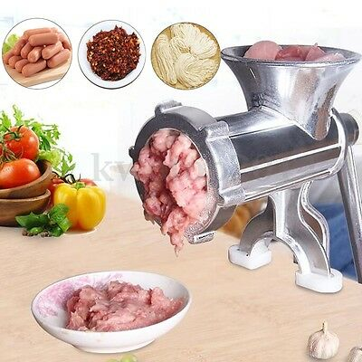 Manual Meat Grinder Mincer Pasta Maker Hand Operated Crank Tool Kitchen Home