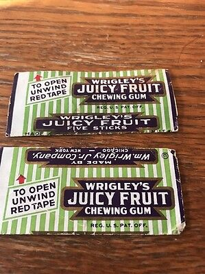 Vintage Wrigley's Original Juicy Fruit Gum Wrapper From The 1932