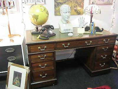 Edwardian Twin Pedestal Desk In A Well Loved Condition