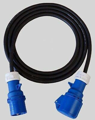32A 230V 1 Phase Cable Leads, 6mm 3c HO7 Rubber Cable.