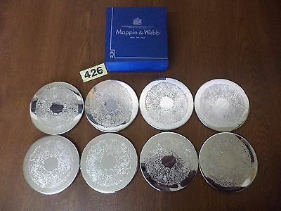 8 x Good Quality Vintage Mappin & Webb Silver Plated Drinks Coasters
