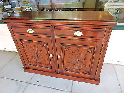 Antique Mahogany Sideboard /Buffet /Cabinet /TV Stand