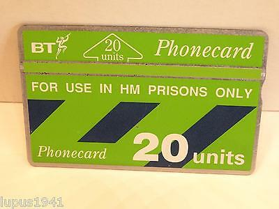 UK, FOR USE IN HM PRISONS ONLY, 20 units,BT Phonecard,gebr.,nmint, sehr selten