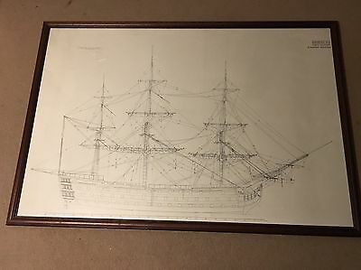 HMS Victory Print From 1966 - Drawing XLI - Running Rigging
