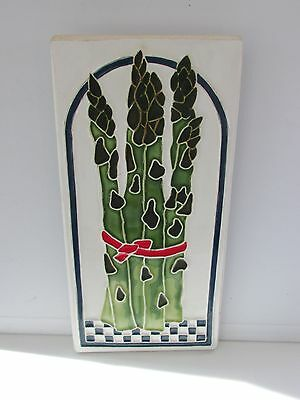 Cindy Wallace collectible decorative vintage ceramic tile 1987 signed