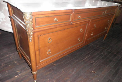Marble Topped Country Server, Sideboard, Breakfront,Console,Pastry Table, 246A