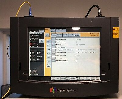Digital Lightwave NIC10G Fiber Optic Network Tester Analyzer OC192 SONET 9.95328