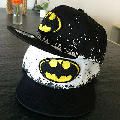 Kids Boys Batman Adjustable Baseball Cap Outdoors Cartoon Snapback HipPop Hat