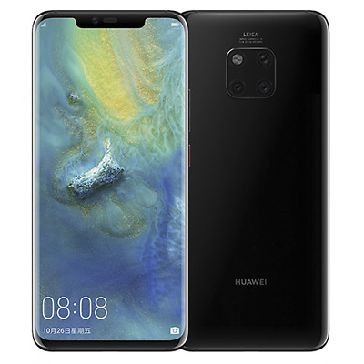 "New Huawei Mate 20 Pro Black 128GB 6GB Android 9 4G 6.39"" Unlocked Smartphone UK"