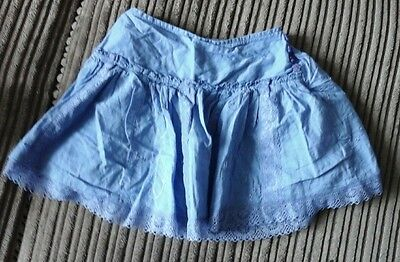 girls cute blue skirt 12-18 months