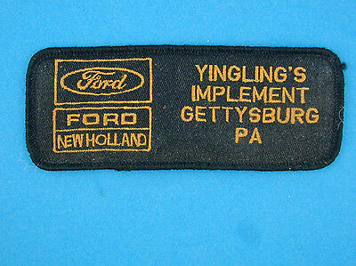 Ford / New Holland Patch Yingling's Implement Gettysburg PA Tractor Advertising