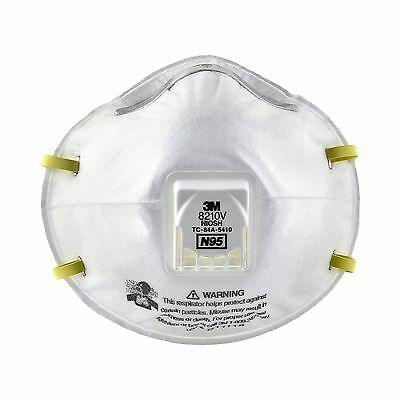 3M 8210V Particulate Respirator N95 Respiratory Protection (Case of 80)