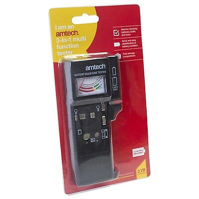 New Battery, Bulb and Fuse Tester 3 in 1 Suitable House and Car L4350