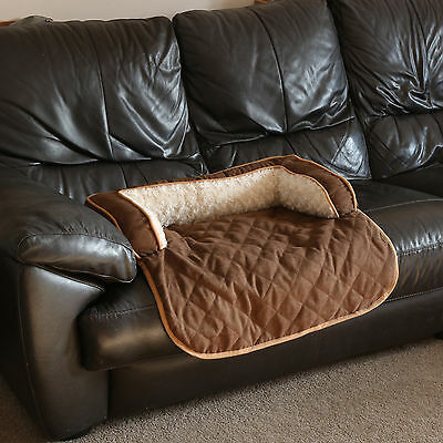 Small Brown Dog/Cat/Pet Rollout Sofa Bed Cosy Warm Chair/Couch Protector Cover
