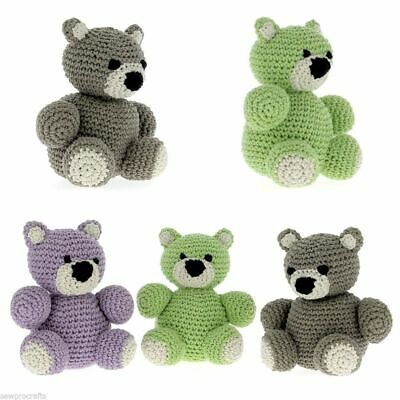 Hoooked DIY Crochet Kit Billie Bear Amigurumi Eco Barbante Recycled Toy Gift