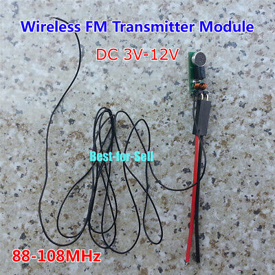 Mini 88-108MHz FM Transmitter Module Wireless Microphone Dictagraph Interceptor