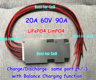 LFP 60V 90A/200A BMS PCM For 20S string LiFePO4 LiMPO4 Battery Pack with balance