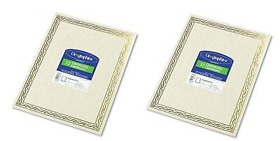 Geographics  Foil Stamped Award Certificates 8-1/2 x 11 Gold 12 Per Pack