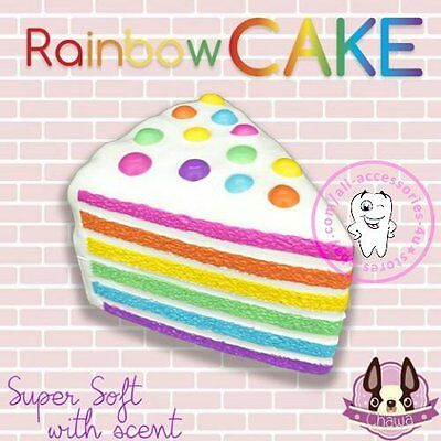 Squishy Rainbow Cake Scented Slow Rising 5Sec. Restore Squeeze Fun Toy Wholesale
