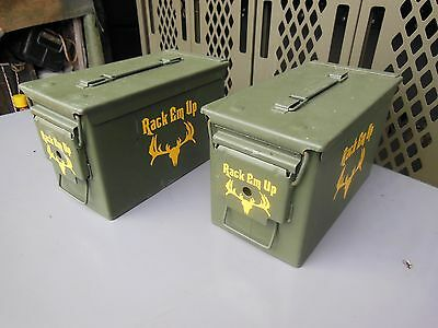 2..military Surplus . 50 Cal Ammo Cans Tool Box  Deer Hunting Camping  Us Army