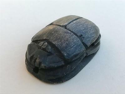 Ancient Egyptian Scarab Seal Bead Steatite Stone Fine Carving.