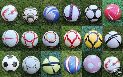 Hand stitched training quality soccer balls 10 Pack Assorted
