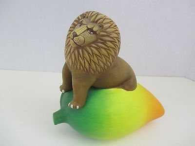 Alexander Flores ~Lion on a Mango ~ Beautiful Sculpture in Ceramic 4727
