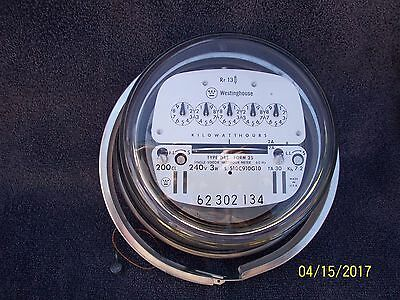 Westinghouse Residential Electric Meter 200 amp 240 volt Xlnt Working Condition