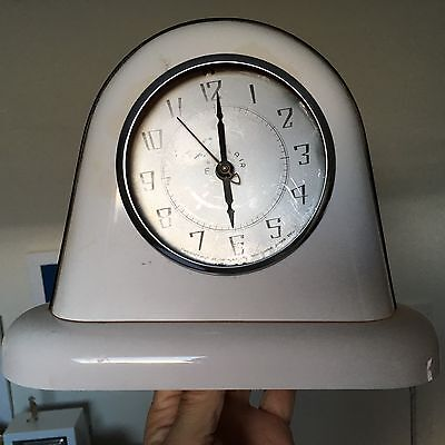 Art deco or 50s METALAIR Electric clock   spares  or repair