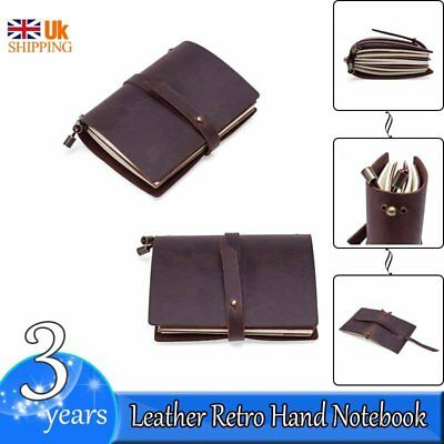 Retro Leather Cover Notebook Handmade Diaries Gift Book Journal Travel Notepad